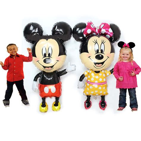 Boneka Micky Mouseminnie Mouse Jumbo 45 quot mickey minnie mouse airwalker foil balloons