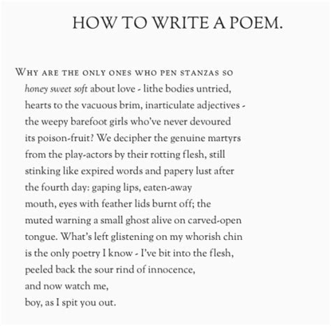how to write a poem on tumblr