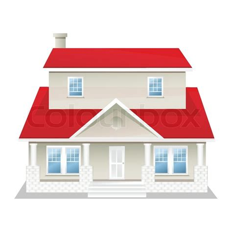 Illustration Of Vector House On An Isolated Background