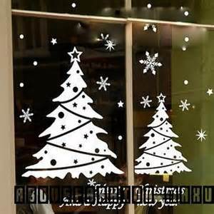 xmas snowflake christmas tree windows glass wall stickers
