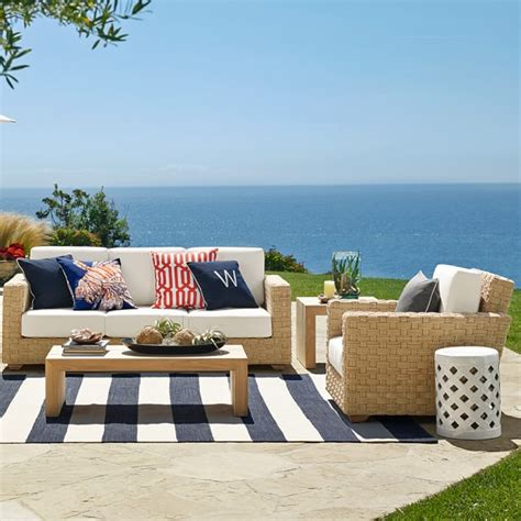outdoor striped rug patio stripe indoor outdoor rug dress blue williams sonoma