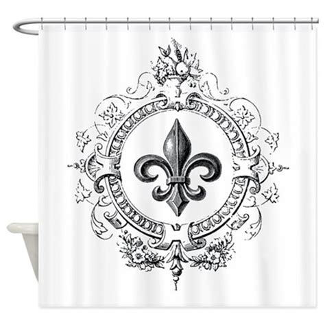 fleur de lis bathroom vintage fleur de lis shower curtain by