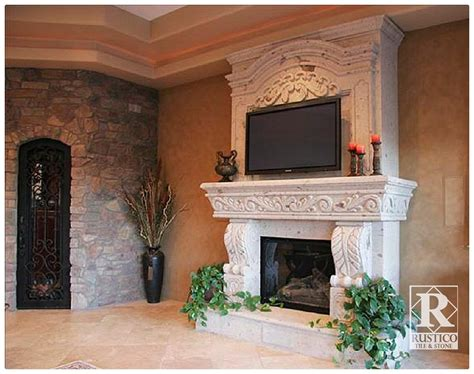 Cantera Fireplace by Cantera Archives Rustico Tile
