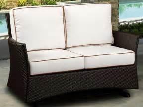 patio loveseat cushions northcape venice wicker cushion arm glider patio loveseat