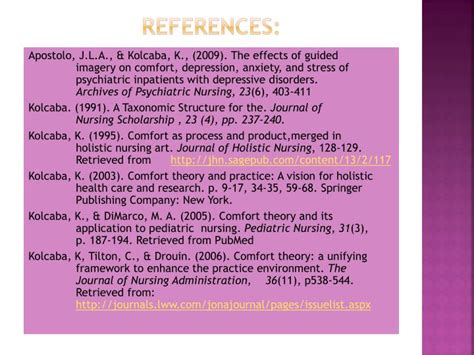 comfort devices in nursing ppt ppt katherine kolcaba theory of comfort powerpoint