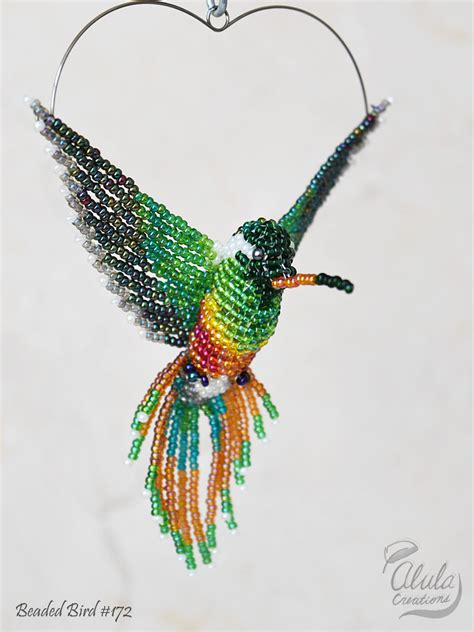 beaded hummingbird hummingbird suncatcher 3d bead bird window decor beaded