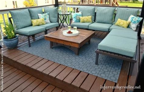 Outdoor Deck Rugs Stencil Paint And Pattern Ideas For Stylish Outdoor Rugs Royal Design Studio Stencils