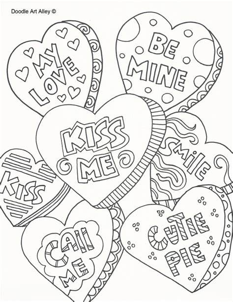 valentines day coloring pages hard valentines day coloring pages doodle art alley