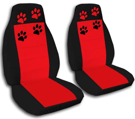 CUTE SET PAW PRINTS FRONT CAR SEAT COVERS CHOOSE,OTHER ITEMS&BACK SEAT AVBL   eBay