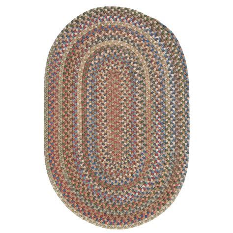 braided oval rugs colonial mills millworks oval rug braided wool 5x8 in dusk