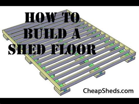 how to build a wooden storage shed floor