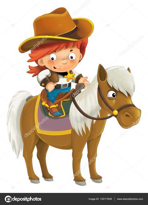 imagenes vaqueras en caricatura vaquero western dibujos animados caballo foto de stock