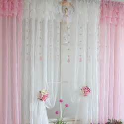 light pink ruffle curtains light blue curtains brown hairs