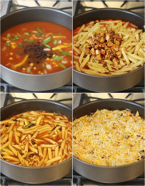 four cheese chicken enchilada pasta my kitchen craze