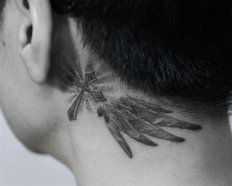 cross tattoo under ear 50 unique cross tattoos for men and women 2018 page 2