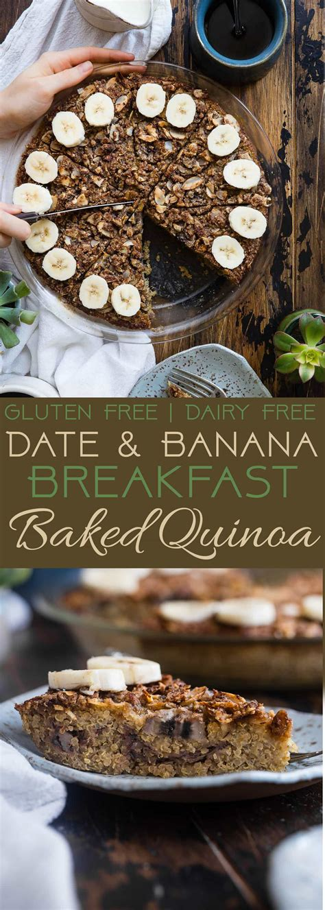 tropical quinoa homemade protein bars food faith fitness breakfast quinoa casserole with dates and bananas food