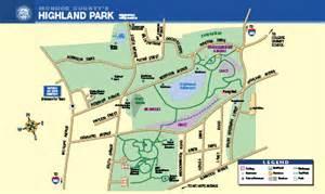 highland park map park map and audio tour