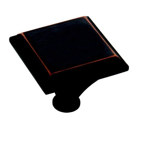 oil rubbed bronze effect is a perfect solution for the amerock blackrock 1 in oil rubbed bronze square cabinet