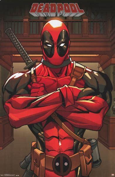 deadpool anti hero marvel comics poster  bananaroad