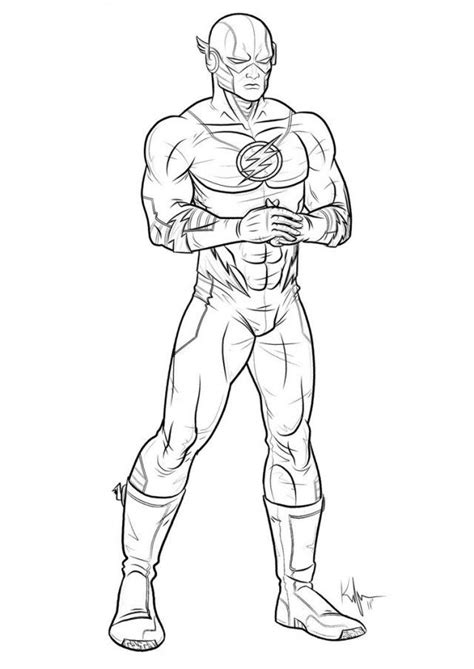 Superhero Outline Coloring Page | free coloring pages of superhero outline