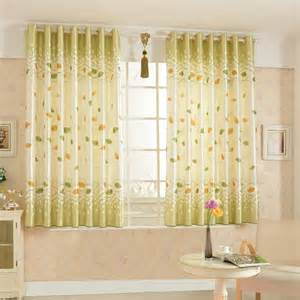 Country Style Curtains Modern Minimalist Country Style Leaf Pattern Bay Window Curtain