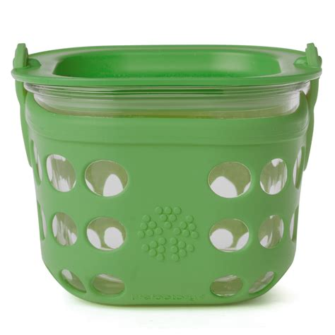 glass food storage containers made in usa new lifefactory med glass food storage container grass