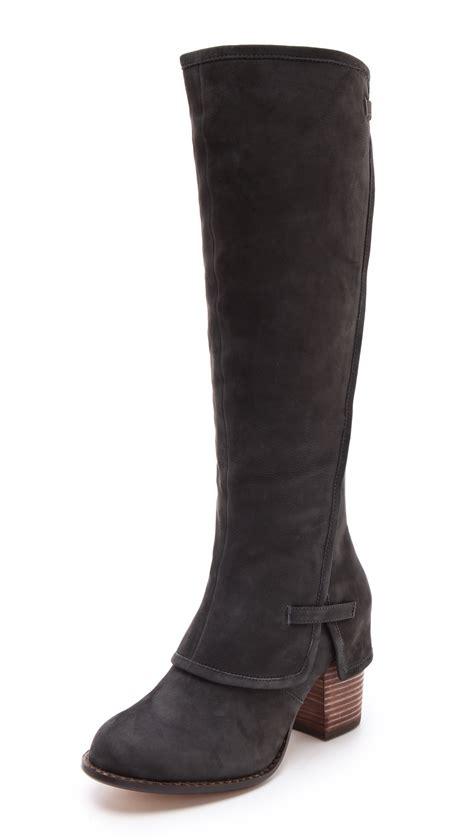 splendid boots splendid polly the knee boots smoke in black lyst