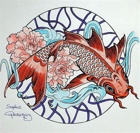 coloring book tutorial coloring tutorial carp mandala with colouring pencils by