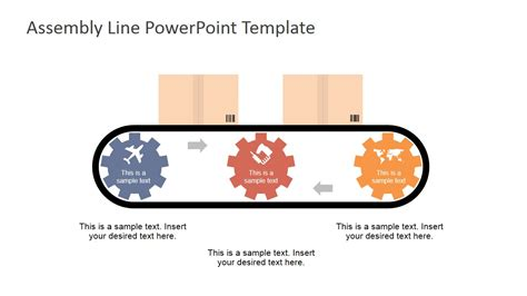assembly template assembly line powerpoint shapes slidemodel