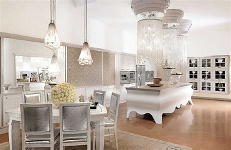 kitchen designs white kitchen interior design chandelier deluxe open kitchen space with silver countertop big three