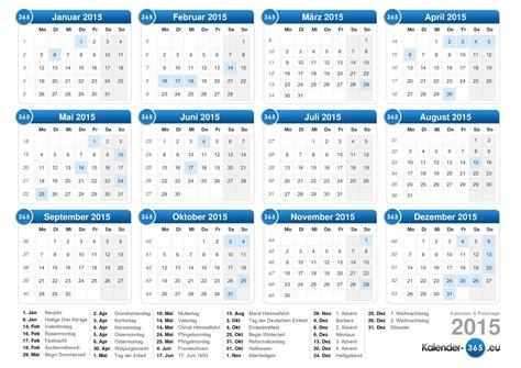 Feiertage Kalender 2015 Kalender 2015