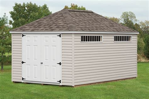 mini barn hip roof sheds cedar craft storage solutions