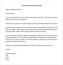 Transfer Request Letter To Hr 39 Transfer Letter Templates Free Sle Exle