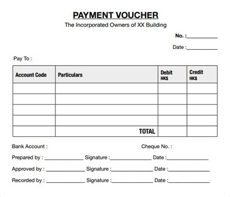 accounts payable voucher template sle payment voucher template 9 documents in pdf