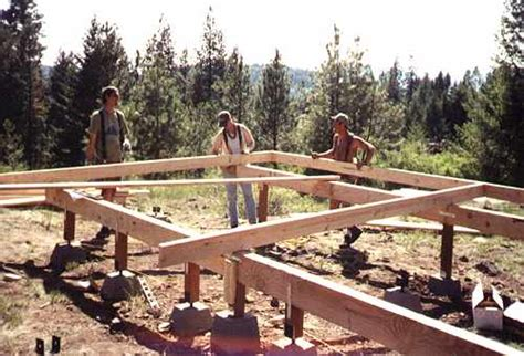 exterior education center design with cabin foundation piers and pier and beam foundation also 14 x 24 cleghorn cabin
