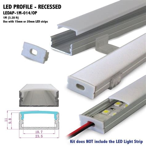 3 foot led strip light 1m 3 28 ft recessed aluminum led profile with opal matte