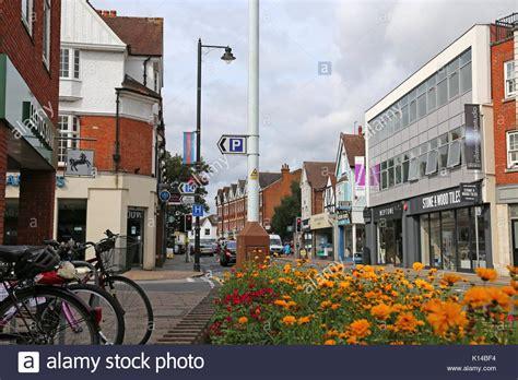 high street british companies united kingdom uk surrey uk businesses stock photos surrey uk businesses