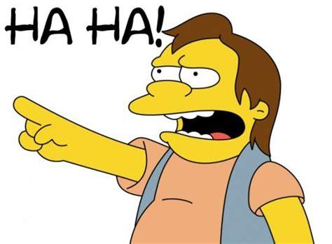 Haha Simpsons Meme - nelson muntz quotes quotesgram