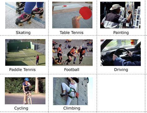 imagenes de hobbies en ingles educarchile sports hobbies