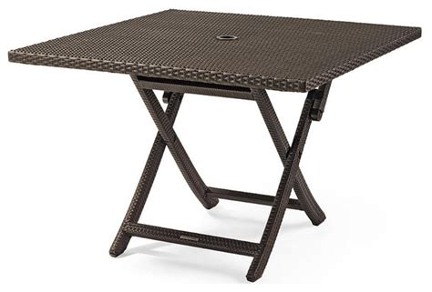 cafe square folding table patio furniture traditional