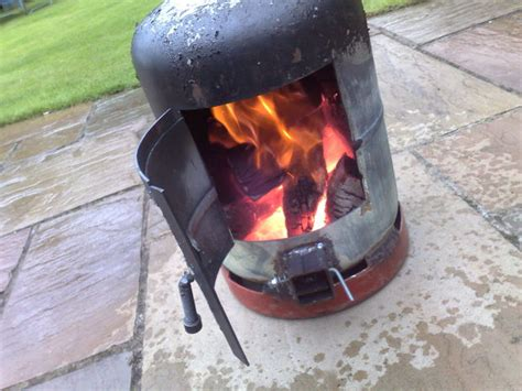 Using A Chiminea Gas Bottle Wood Burner