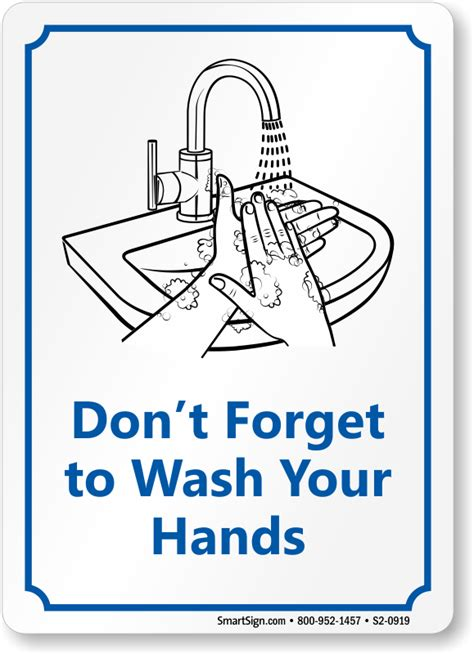 bathroom signs wash your hands don t forget to wash your hands bathroom etiquette sign sku s2 0919