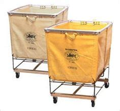 Industrial Factory Laundry Bin Commercial Sized Cart Circa Commercial Laundry On Wheels
