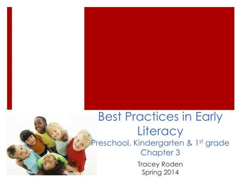 best practices in literacy fifth edition ppt best practices in early literacy preschool