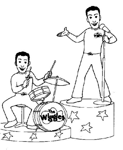 wiggles coloring pages for kids and friends print and
