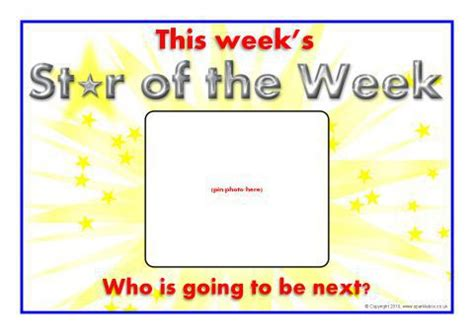 printable star of the day certificates star of the week day posters sb3077 sparklebox