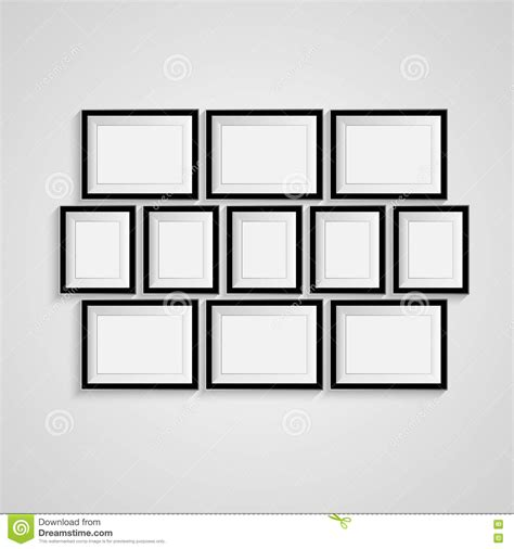 Frame 3d Bingkai Pigura 25x25x5cm black blank picture frame template poster picture frame set vector stock vector
