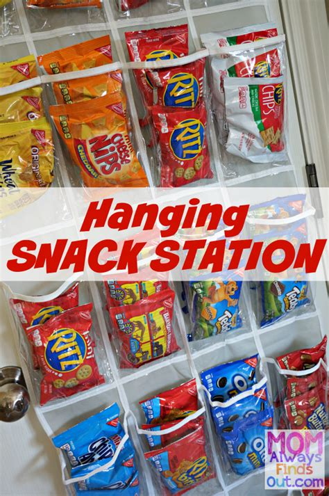 how to create a hanging snack station