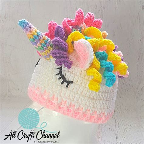 unicorn beanie pattern easy crochet unicorn beanie hat all crafts channel
