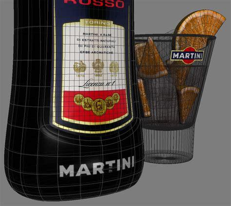 martini rosso glass martini rosso glass 3d max